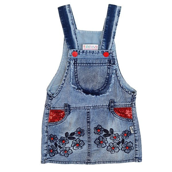 Rochita denim fara maneci